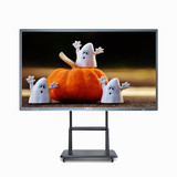 3840x2160 Max Resolution 500cd/m2 Brightness 75 Inch Floor Stand Touch Screen PC 4K Interactive Whit